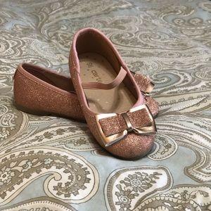 Girls rose gold carters dress shoes